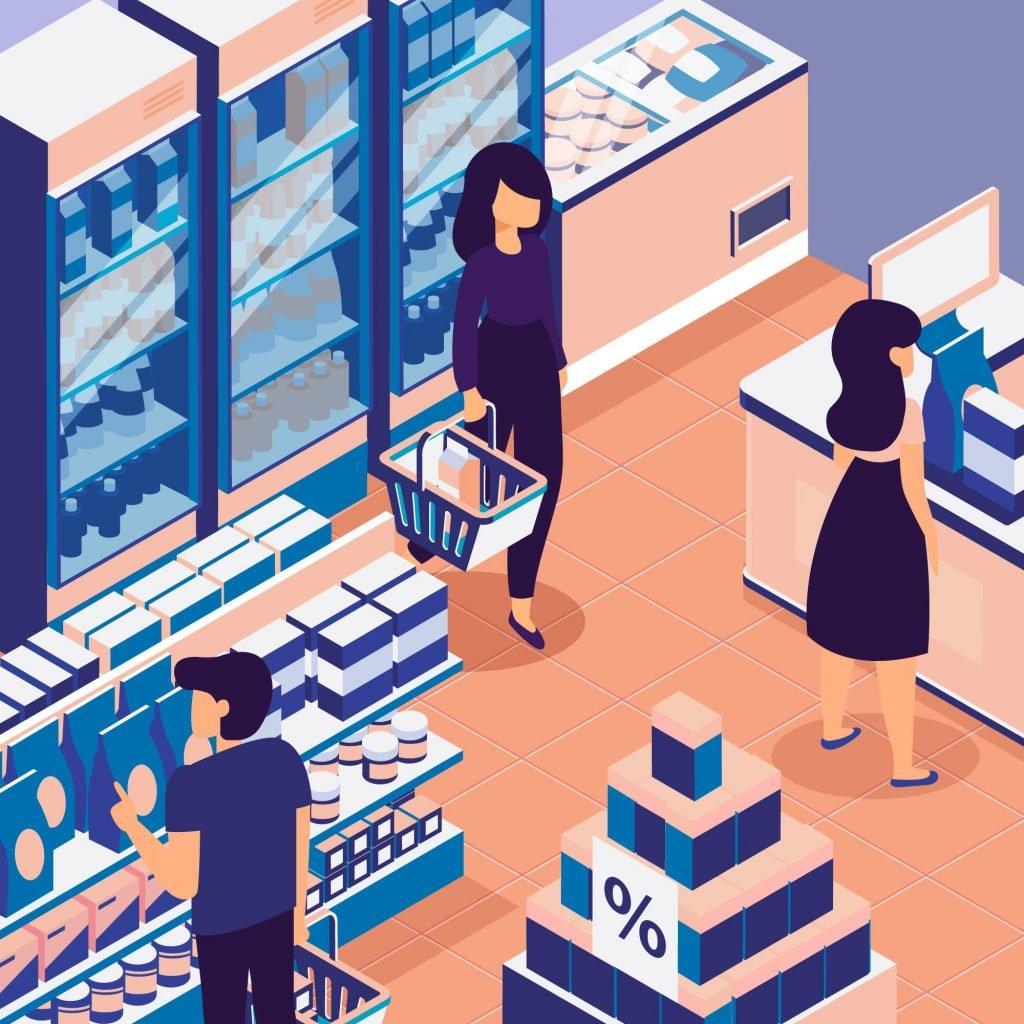 immagine punto vendita illustrato