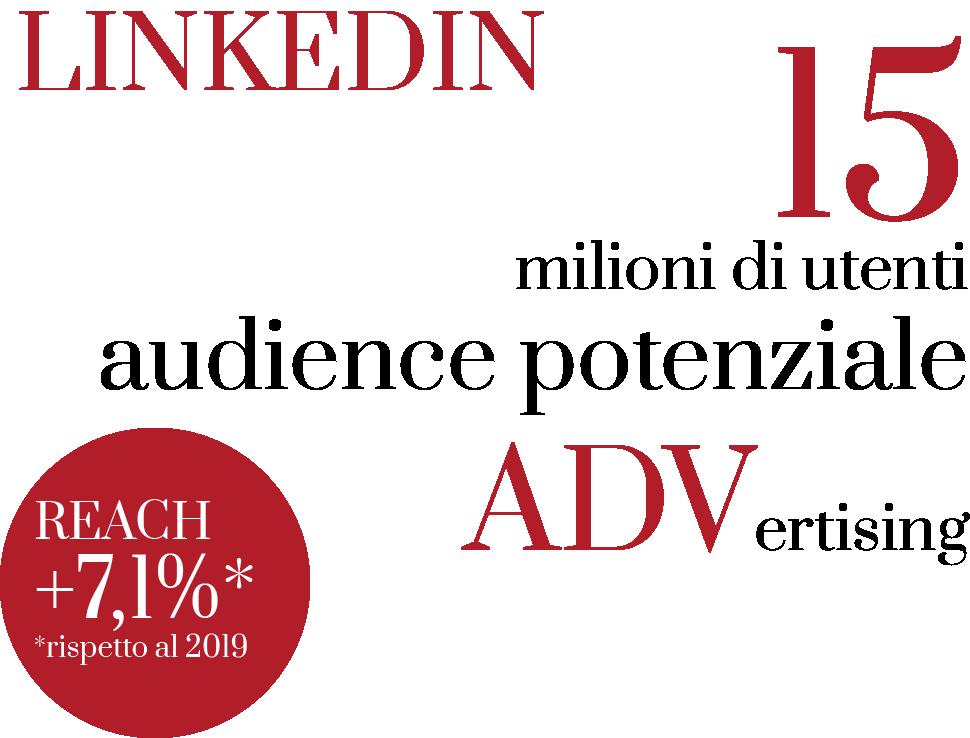 audience potenziale nel mercato linkedin advertising